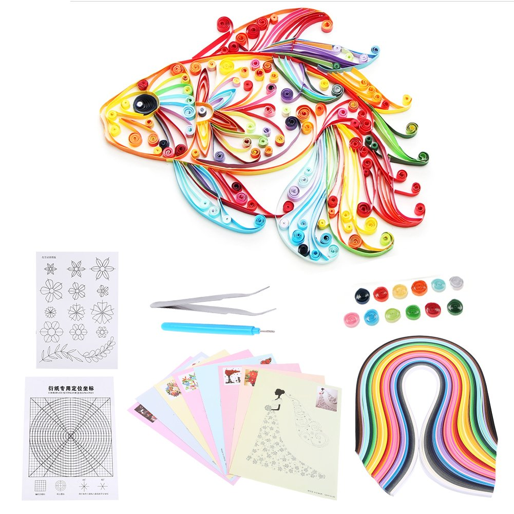 6 In 1 DIY Quilled Creation Paper Craft Quilling Tools Kit Collection For Decoration Educational Fun Christmas Present Walfront