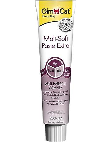 GimCat pasta Malt-Soft Extra , Aperitivo para gatos de fibra de origen vegetal con