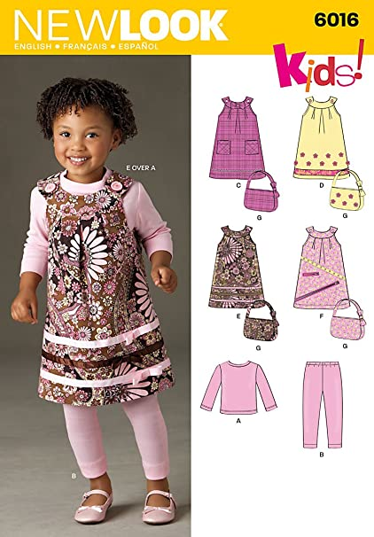 5ac50cfba56e00 New Look A 1 2-1-2-3-4 Sewing Pattern 6016 Toddlers Separates ...
