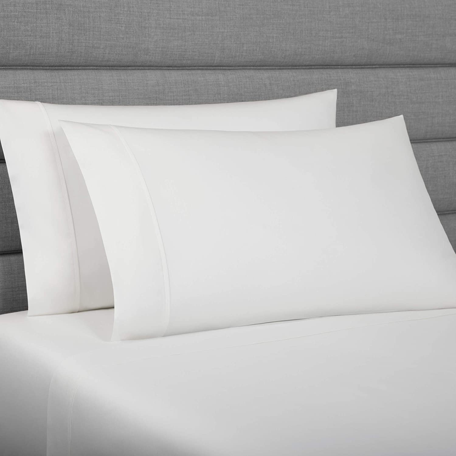 UGG Shani 350 Thread Count Supima Cotton Sateen Fabric Sheet Set, (Snow, Queen)