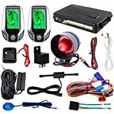 EASYGUARD 2 Way car Alarm System EC204 with PKE Passive keyless Entry, Rechargeable LCD Pager Display