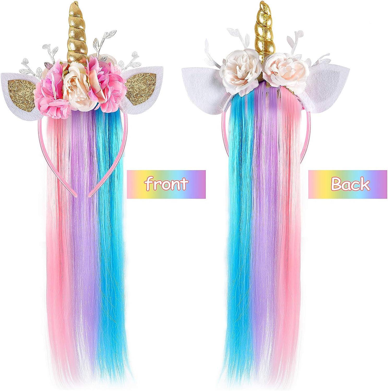 Amazon Com Lorfancy Unicorn Headband For Girls Unicorn Costume Birthday Halloween Party Unicorn Party Supplies Favors Clothing