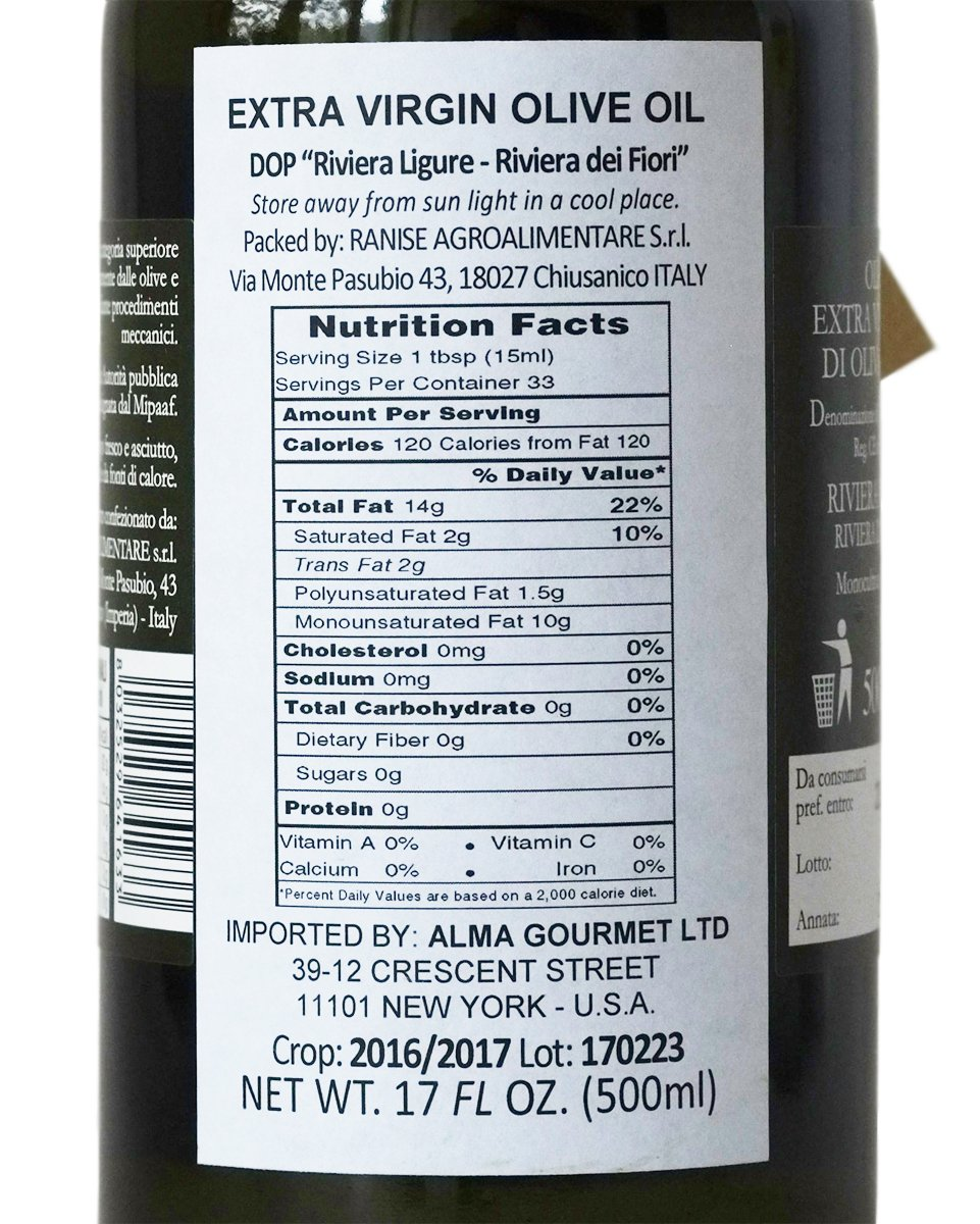 Ligurian Italian Extra Virgin Olive Oil DOP 16.9 fl oz - Pack of 2 by Ranise (Image #3)