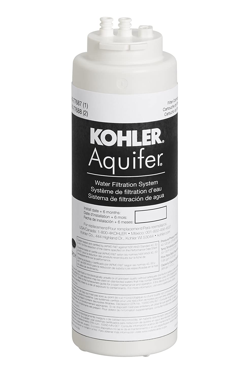 KOHLER 77687-NA Aquifer Single Replacement Filter Cartridge