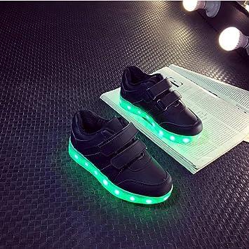 Formulaone Niños Niños Niñas LED Luminoso Zapatos Light Up Entrenadores Moda Intermitente USB Recargable Sneakers Botines: Amazon.es: Juguetes y juegos