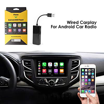 USB Car Play Dongle Auto, Mirroring, Mini Smartphone Link Receiver Adapter Auto Navigation Multimedia Player for Smartphone (Black): GPS & Navigation