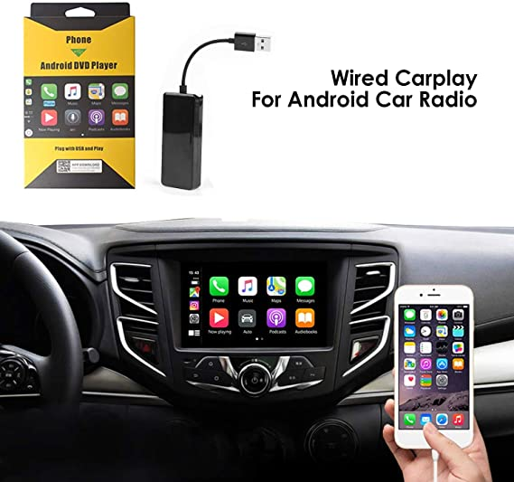 Carplay Dongle With Android Head Unit Installation Of The Autokit App In The Car For Cars With Android Car System 4 0 And Above Black Navigation Car Hifi