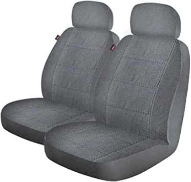 2-Piece Seat Cover with Matching Headrest Covers Dickies 40318 Black