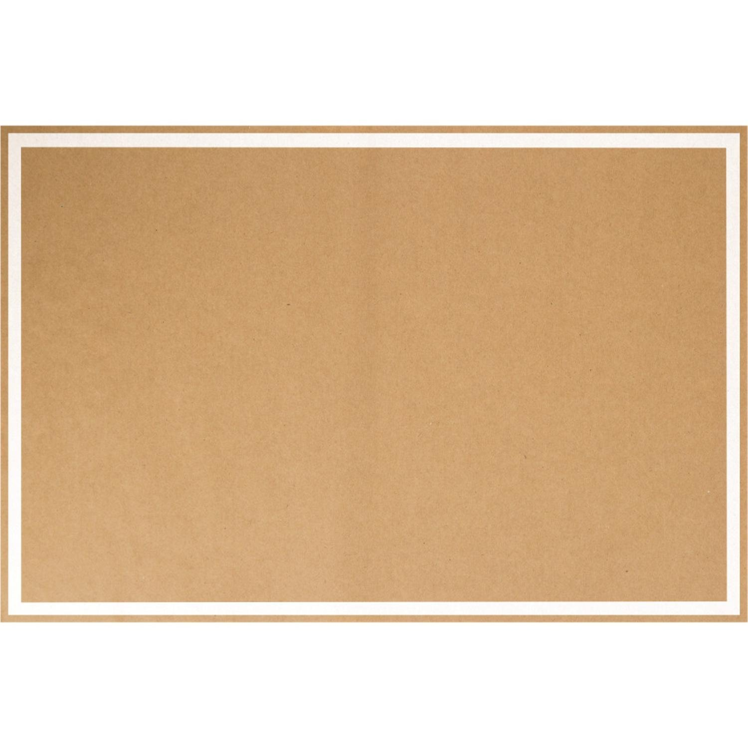Party Central Club Pack of 144 Brown Kraft Paper Premium Disposable Placemats 19''