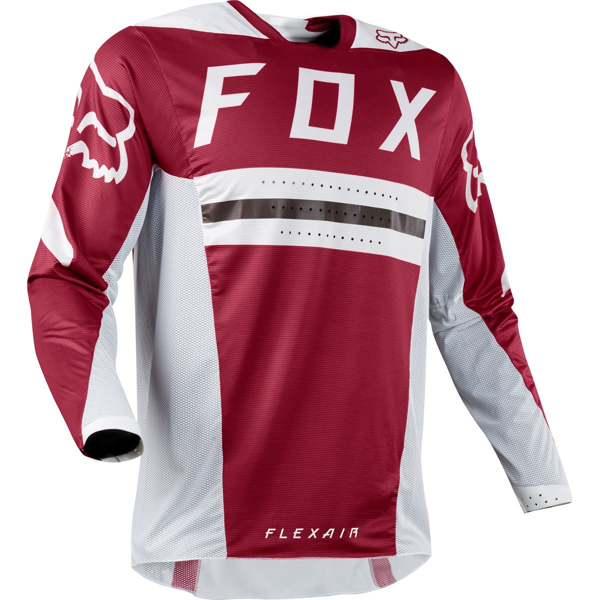Fox Racing 2018 Flexair Preest Jersey-Dark Red-L