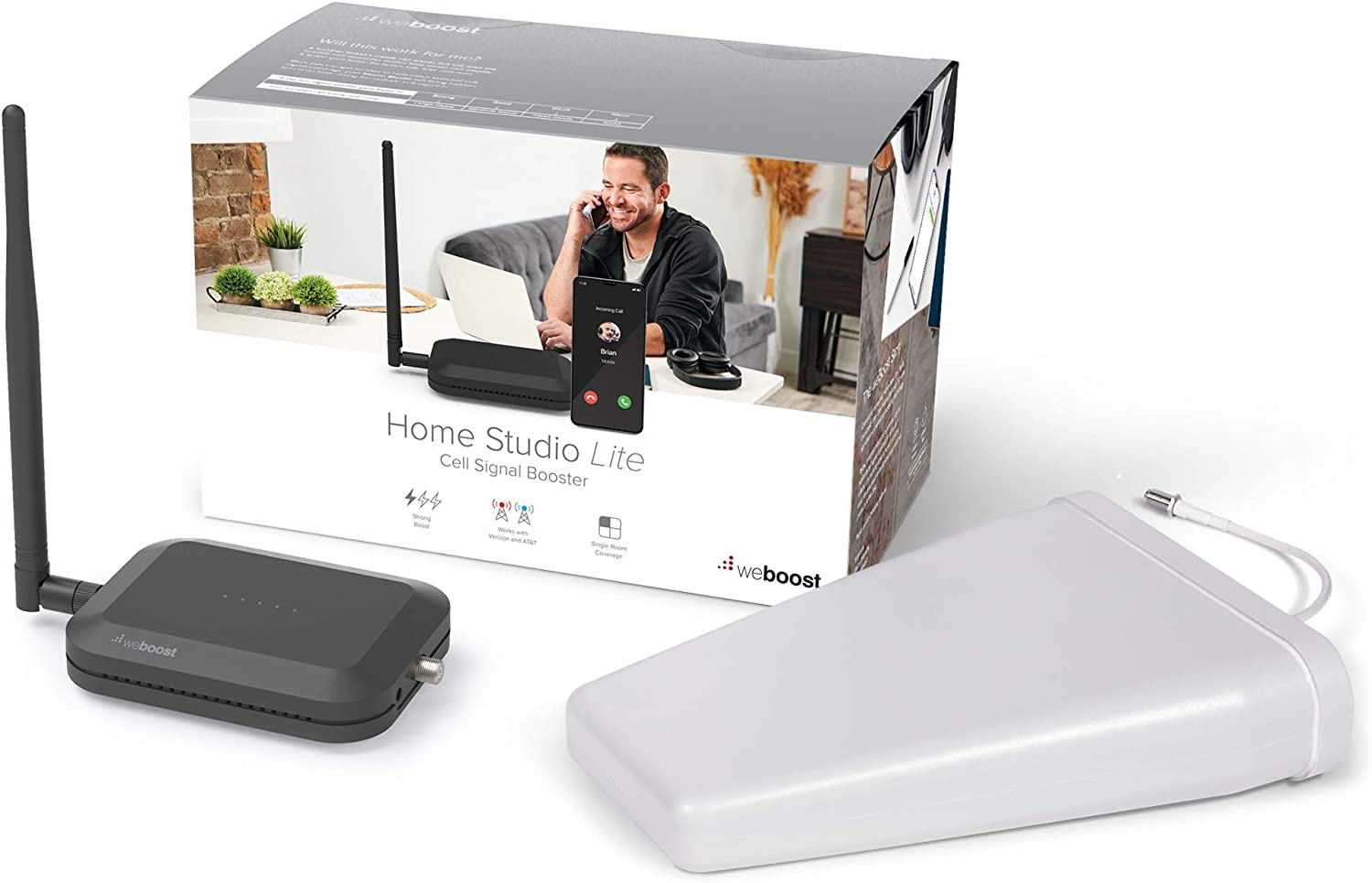 weBoost Home Studio Lite (470165) Cell Signal Booster Kit | Room or Apartment | Verizon and AT&T Only | FCC Approved