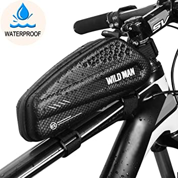 BTNEEU Bolsa Manillar Bicicleta Impermeable, Bolsa Cuadro Bicicleta Bolsa Tubo Bicicleta Bolsa Movil Bicicleta para iPhone XS MAX/8 Plus/7 ...