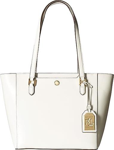 LAUREN Ralph Lauren Women s Newbury Halee II Shopper Medium Vanilla Handbag ac388e1d9379c