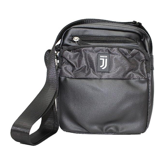 Borsello tracolla JUVENTUS da uomo Nero ecopelle NUOVO LOGO 13876  Amazon.it   Abbigliamento ae709774b0e