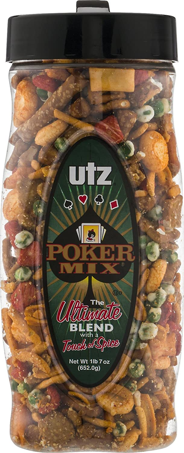 Utz Poker Mix, The Ultimate Blend 23 oz. (2 Containers)