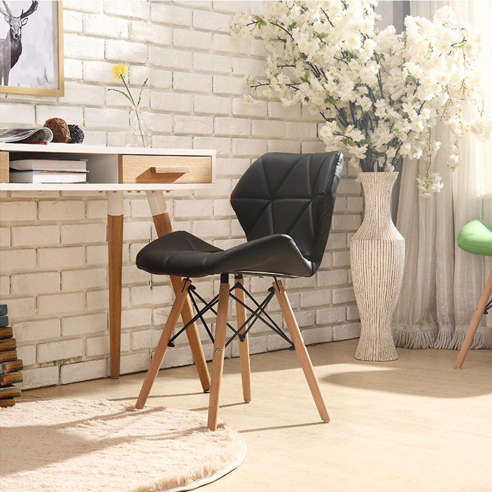 ダイニングチェア チェア Chair ッション デスクチェア家庭用レストラン背もたれコンピュータチェア北ヨーロッパ事務所 TINGTING (色 : Black) B07F6D84SB Black Black