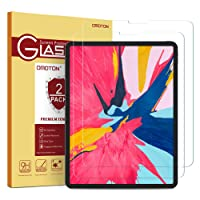 OMOTON Tempered Glass Screen Protector Compatible with All New All Screen iPad Pro 11-inch 2018 Release [2 Pack]