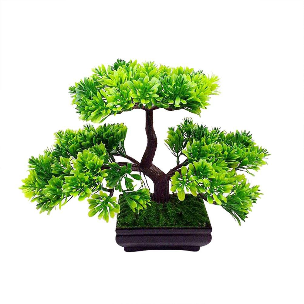 VORCOOL Artificiale Guest-Greeting Pino Bonsai Mini Simulazione Albero Pianta Home Decor (Verde)