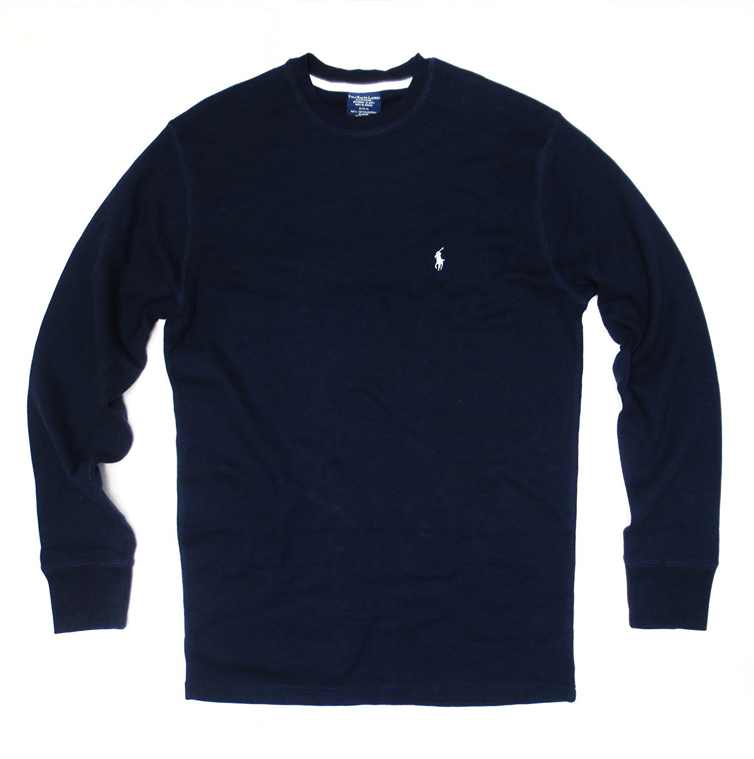 a440a112 Galleon - Polo Ralph Lauren Men's Long-sleeved T-shirt/Sleepwear/Thermal  (Large, Cruise Navy/White Pony)