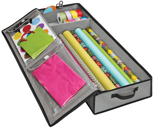 Grey Wrap & Tote Organizer | The Container Store
