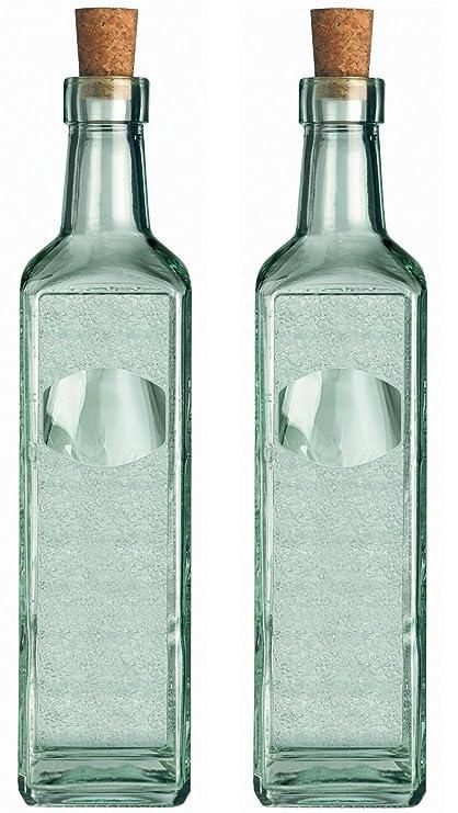 Juego de 2, casa de campo,botella Eticat, 50 cl botellas