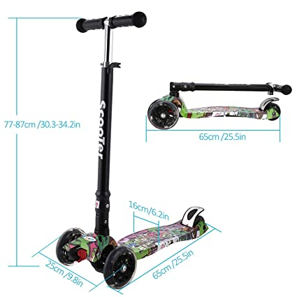 Lonlier aleación de Aluminio Kick Scooter Altura Ajustable ...