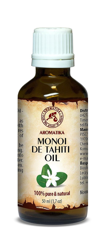 Aceite de Monoi de Tahiti 50ml - Aceite de Cocos Nucifera - Francia - 100% Puro y Natural - Prensados en Frío - Botella de Cristal - Multifuncional - Aceite ...