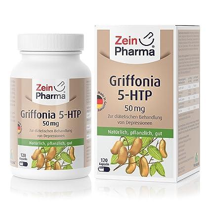 Cápsulas de Griffonia 5-HTP 50mg de ZeinPharma • 120 cápsulas (un ...
