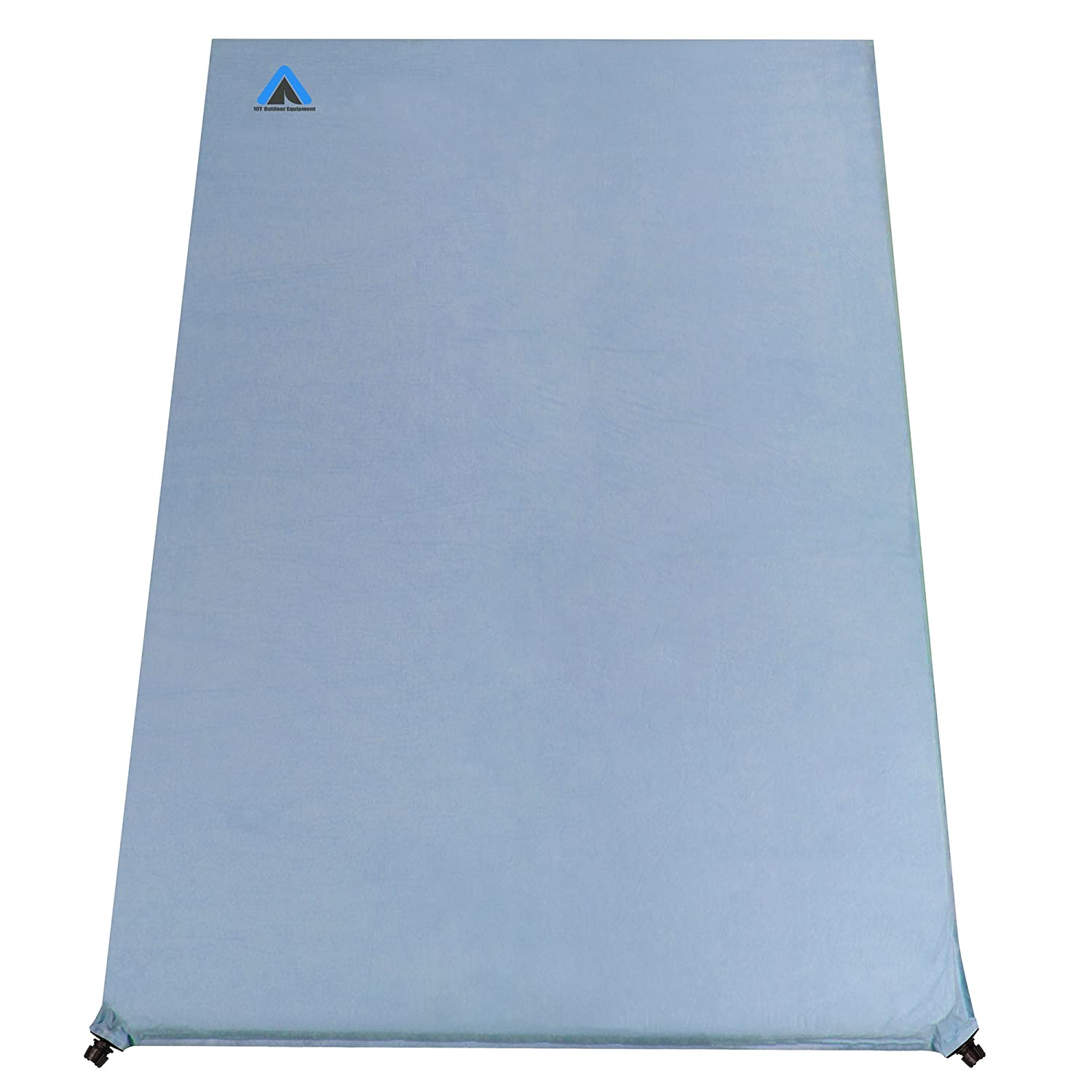 10T Outdoor Equipment Ben 800 Duo Selbstaufblasende Isomatte, Blau, 200 x 130 x 8 cm