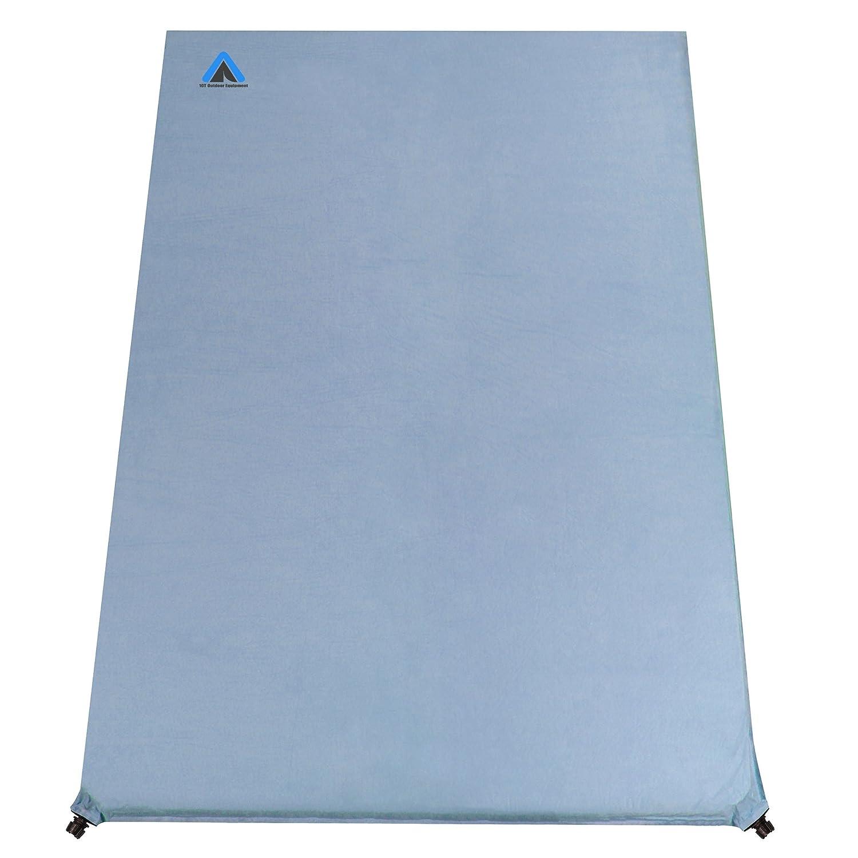 10T Outdoor Equipment Ben 800 Duo Selbstaufblasende Isomatte, Blau, 200 x 130 x 8 cm