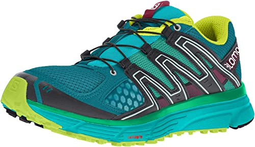 Salomon X-Mission 3 W, Zapatillas de Trail Running para Mujer, Turquesa (Deep Lagoon/Bluebird/Acid Lime), 38 EU: Amazon.es: Zapatos y complementos