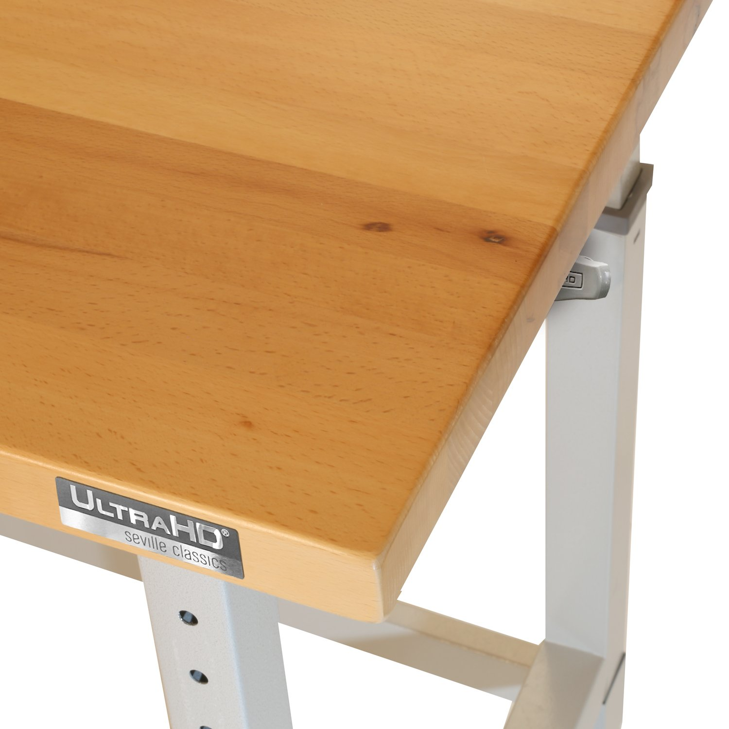 UltraHD Adjustable Height Heavy-Duty Wood Top Workbench, 48'' x 24'' by Seville Classics (Image #5)