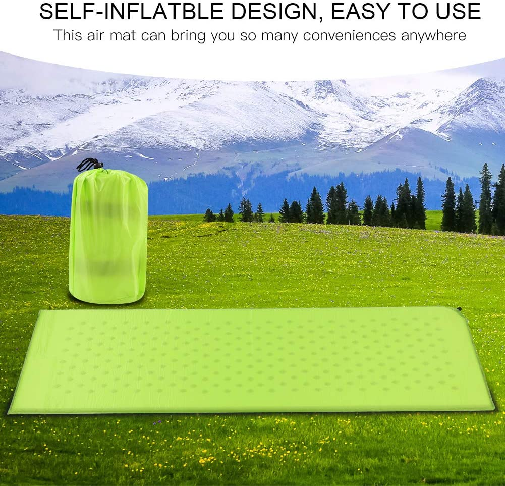 Durable Self-Inflating Sleeping Pad Folding Air Mattress Outdoor Bed Camping Mat Backpacking Lightweight Camping Foam Pad Hiking SOULONG Inflatable Sleeping Pad for Travel