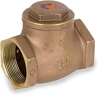 Smith-Cooper International 9191L Series Brass Swing Check Valve, Potable Water Service, 3/4' NPT Female
