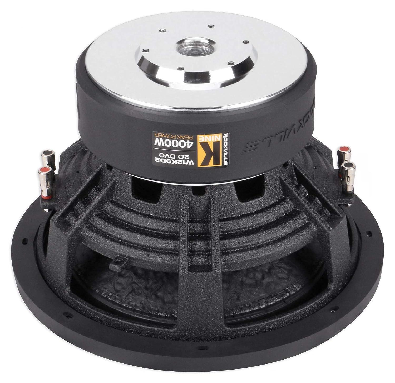 Rockville W10K6D4 V2 10 2000w Car Audio Subwoofer Dual 4-Ohm Sub CEA Compliant