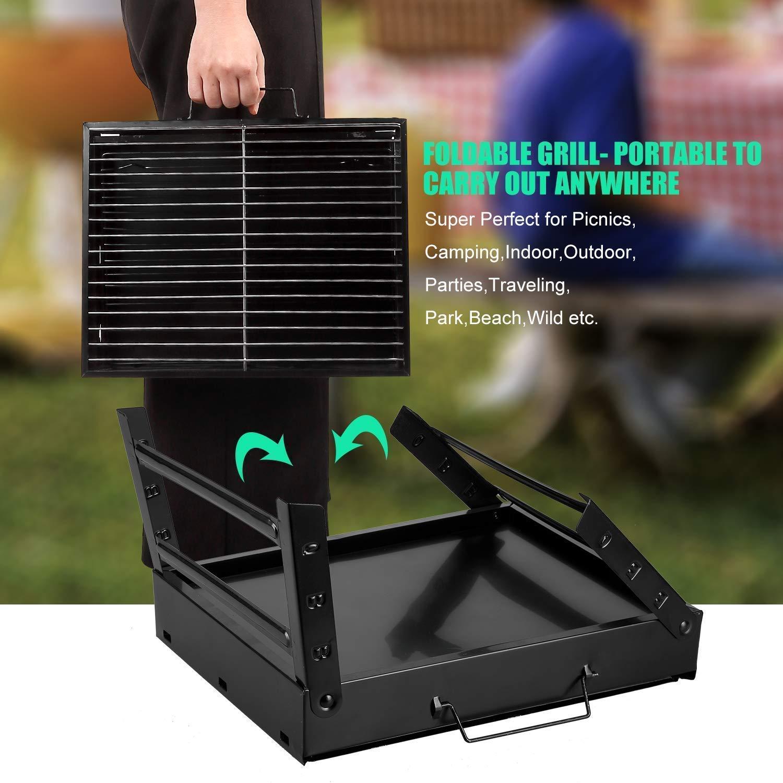 Amazon.com: iSote Parrilla De Carbon Portatil Asador para ...