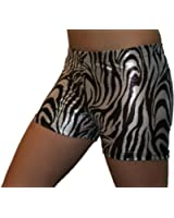 "GemGear Metallic Animal Printed 6"" Inseam Compression Shorts"