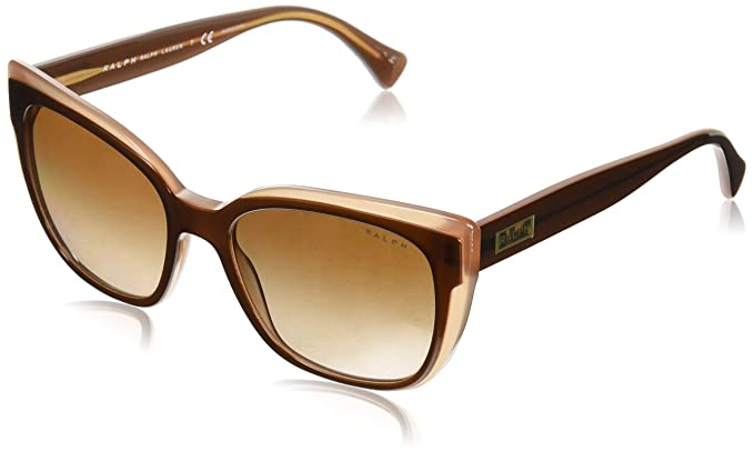 Ralph 0RA5242 Gafas de Sol, Shiny Top Brown On Caramel 55 ...