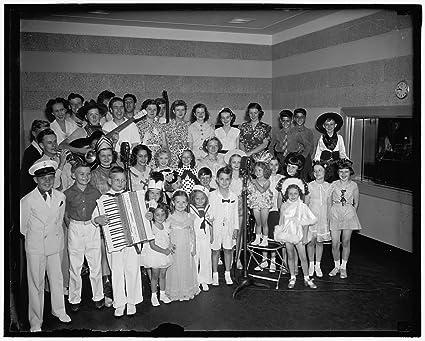 Vintography Reproduced 24 X 30 Photo Children Frolic NBC 1939 Harris Ewing A34