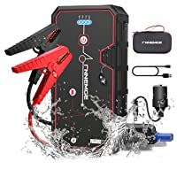 FNNMEGE 2000A Peak 21800mAh 12V Super Safe Car Jump Starter with USB Quick Charge 3.0 (Up to 8.0L Gas or 6.5L Diesel…