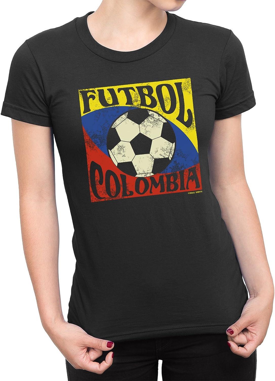 buzz shirts De Las Mujeres Camiseta Futbol Colombia Copa del Mundo ...