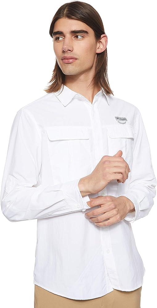Columbia Cascades Explorer Long Sleeve Shirt Camiseta de Manga Larga para Senderismo, Hombre, Blanco, XXL: Amazon.es: Ropa y accesorios