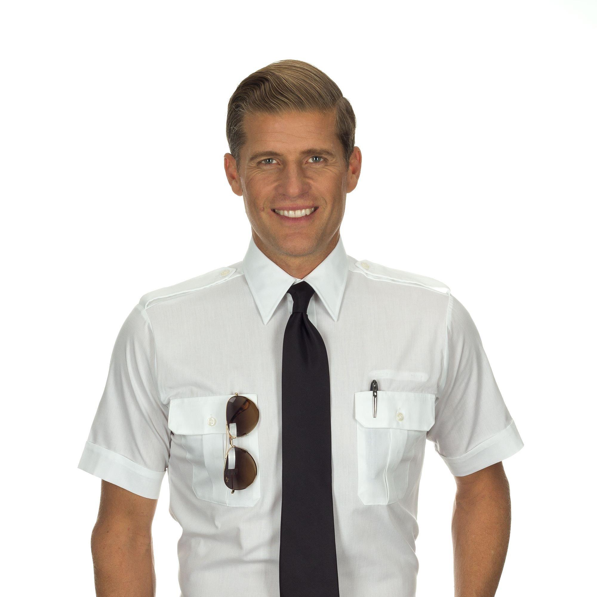 Van Heusen Men's Pilot Tall Shirt, Short Sleeve, 16H