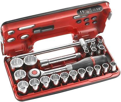 Facom S.360DBOX412 Juego Dbox de Soportes de 1/2 Pulgadas, Métricos de 12 Puntos, Multicolor: Amazon.es: Bricolaje y herramientas