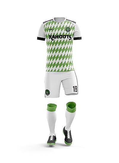 best cheap 459c6 3075e Amazon.com: ORKY Custom Soccer Uniform Nigeria National ...