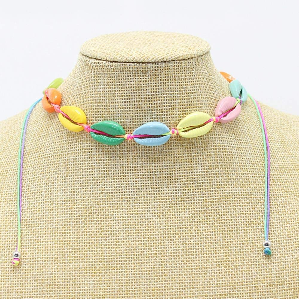 European and American Necklace ocean wind Shell Necklace Alloy Shell Beach Necklace one two wear seven colors