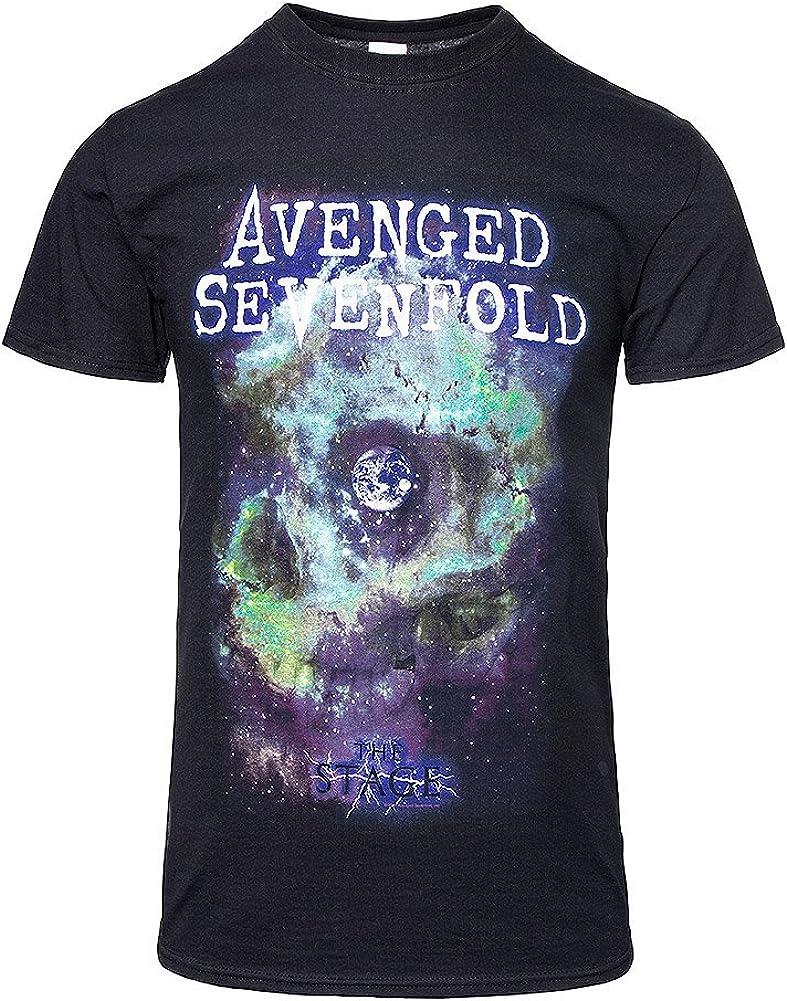 Avenged Sevenfold Space Face Rock Heavy Metal oficial Camiseta para hombre (XX-Large): Amazon.es: Ropa y accesorios