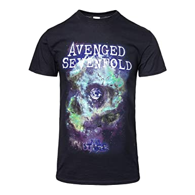 Avenged Sevenfold Space Face Rock Heavy Metal Official Tee T-Shirt Mens Unisex (Small