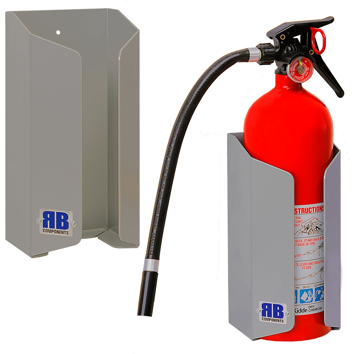 RB Components 2537 Fire Extinguisher Mount, Silver by RB Components