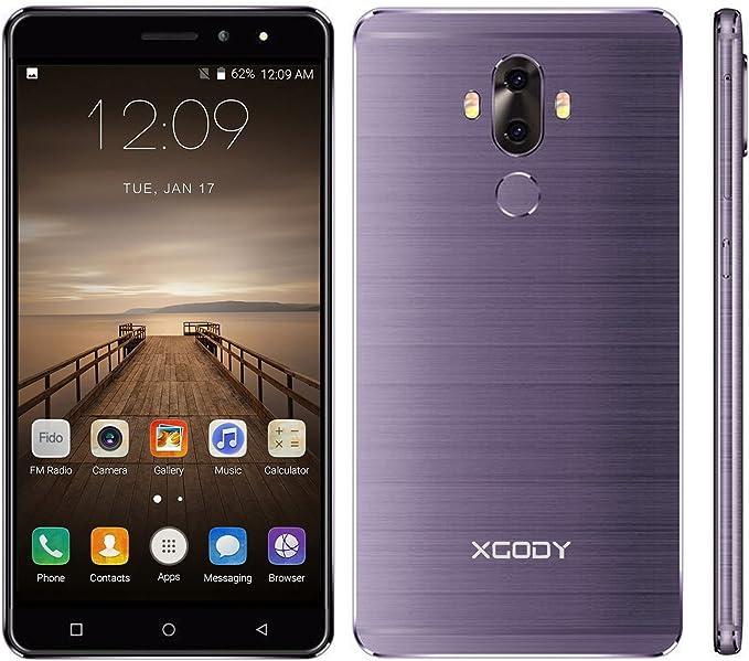Xgody 2GB+16GB 6 Android 7.0 con Dual Cámara Trasera 4G FDD-LTE ...